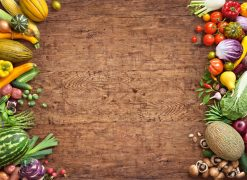 Fruit and vegetables background picture