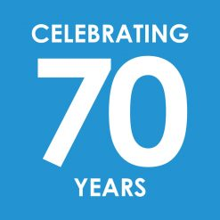 70th anniversary logo of Macfarlane Group